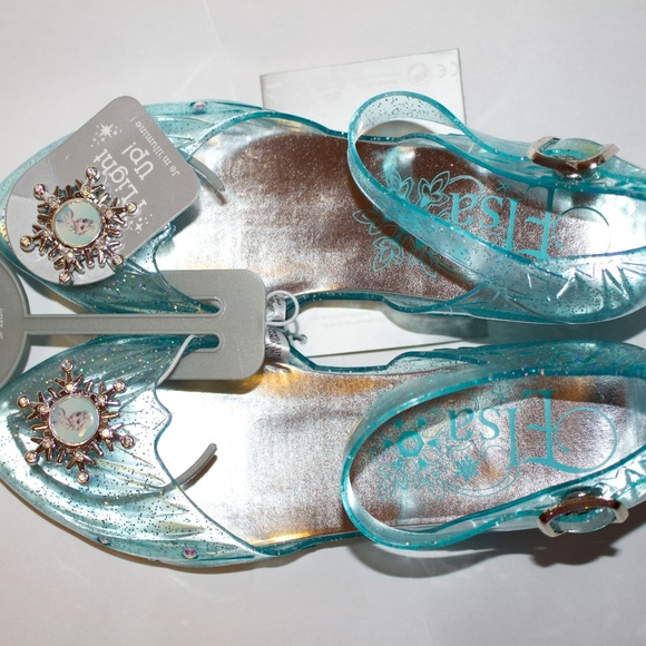 New Disney Store Frozen Elsa Light-Up Sparkle Dress Shoes Girls Size 2//3